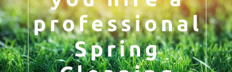Why should you hire a professional spring cleaning service? read the blog