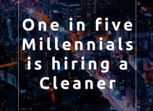 One in five millennials is hiring a cleaner - blog