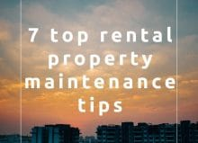 7 top rental property maintenance tips