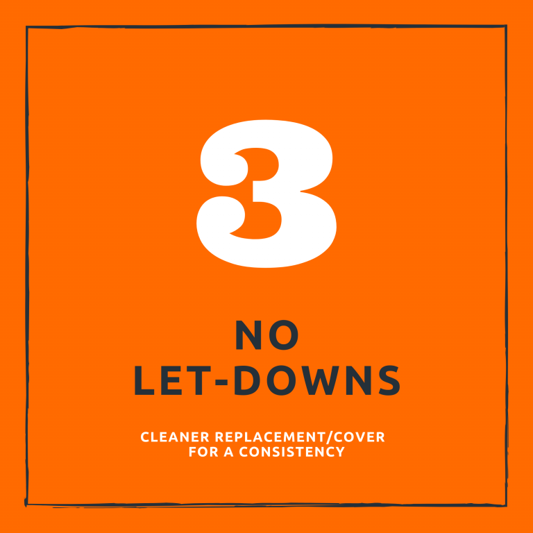 no let-downs