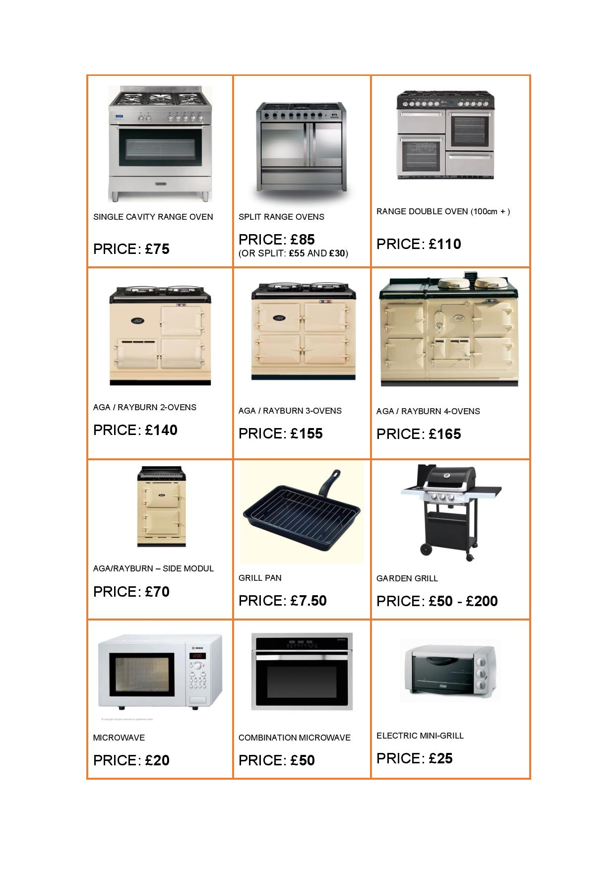 OVEN CLEANING PRICES PAGE 2